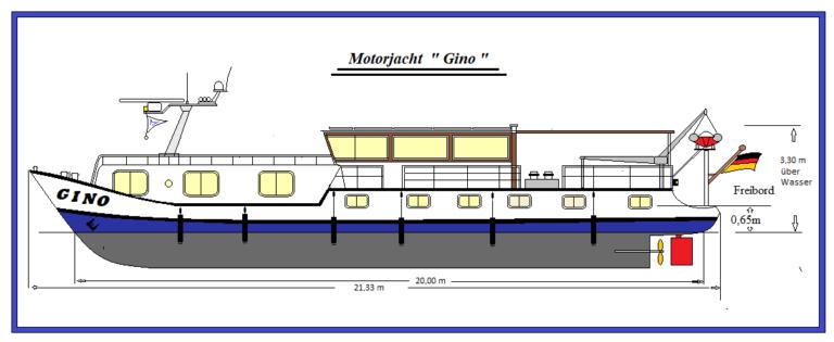 Zeichnung Motoryacht Gino