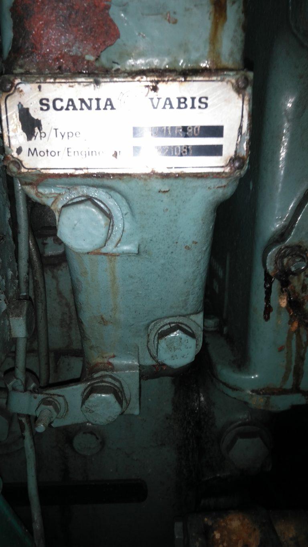 Scania Motor Plakette